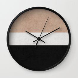 classic - natural, cream and black Wall Clock