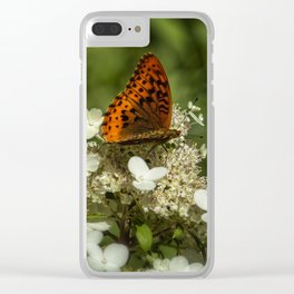 Butterfly on a Hydrangea 2 Clear iPhone Case