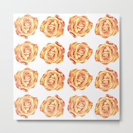 Pretty Pink Rose Floral Design Metal Print