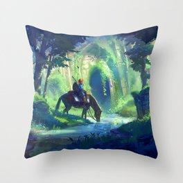 Link - Breath of The Wild Throw Pillow