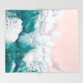Pink Sand Beach Throw Blanket