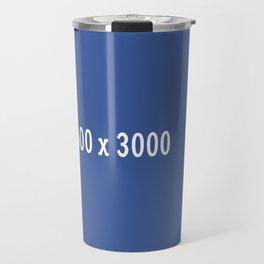3000x2400 Placeholder Image Artwork (Facebook Blue) Travel Mug
