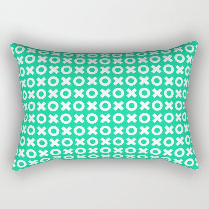 XOXO ((emerald)) Rectangular Pillow