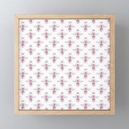 Pink Queen Bee Pattern Framed Mini Art Print