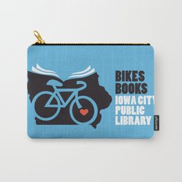 Bikes Books Iowa City Public Library Carry-All Pouch
