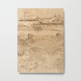 Arles: View from the Wheatfields Metal Print