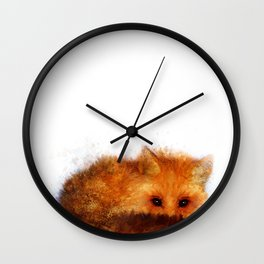 Shy Red Fox Wall Clock