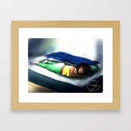 Hero but Tired Framed Art Print