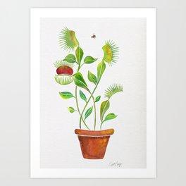 Venus Fly Trap Watercolor Art Print