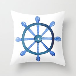 Navigating the seas Throw Pillow