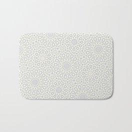 White Moroccan Tiles Pattern Bath Mat