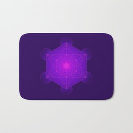 Metatron | Cube | Secret Geometry | Platonic | Matrix | Protects children Bath Mat