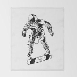 Astro-Skater Throw Blanket