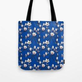 Magnolia blue floral Tote Bag