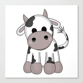 Cuddly Cow Canvas Print