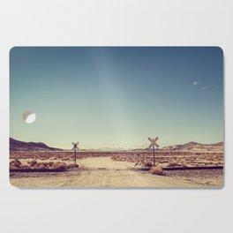 Railroad Crossing California desert Cutting Board