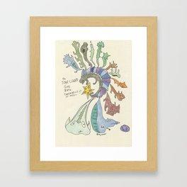 The Star Lizard Framed Art Print