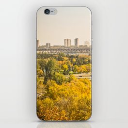 Fall in the city iPhone Skin