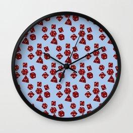Dice Everywhere - Garnet Red Wall Clock
