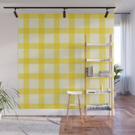 Yellow Lines Pattern Wall Mural