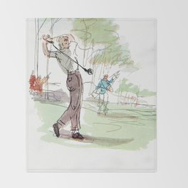 Are You Looking At My Putt? Vintage Golf Throw Blanket