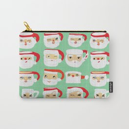 Vintage Santa Mug Collection Carry-All Pouch