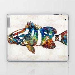Colorful Grouper 2 Art Fish by Sharon Cummings Laptop & iPad Skin