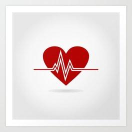 Heart life Art Print