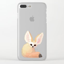 cute fennec foxes. Vector graphic character Clear iPhone Case