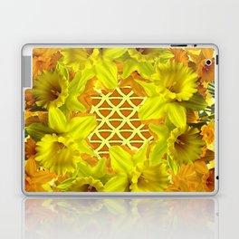 GOLDEN YELLOW SPRING DAFFODILS PATTERN GARDEN Laptop & iPad Skin