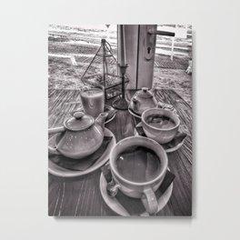 Brunch in grey Metal Print