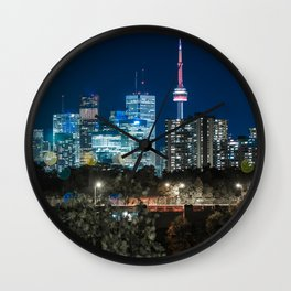 Urban Nights, Urban Lights #7 Wall Clock