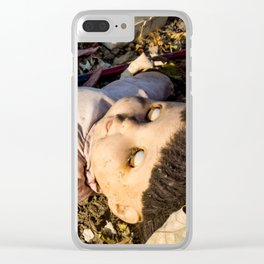 Dead Doll Clear iPhone Case