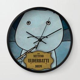 Ulderbatti from Nettuno (Drum) Wall Clock