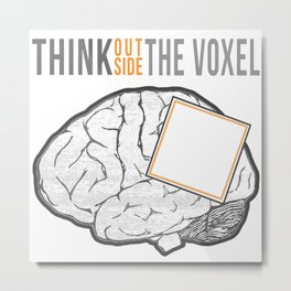 Think Outside the Voxel Metal Print
