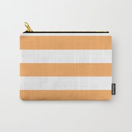 Rajah - solid color - white stripes pattern Carry-All Pouch