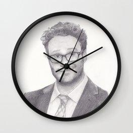 Seth Rogen Pencil drawing Wall Clock