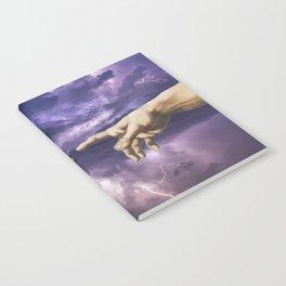 The creation of Adam - lightning purple Notebook