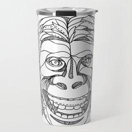 Humanzee Smiling Doodle Travel Mug
