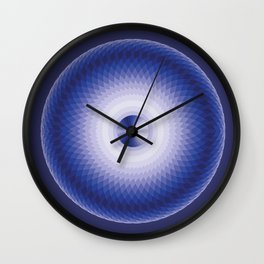 Blue motion Wall Clock