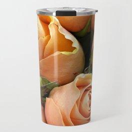 Peach Roses Travel Mug