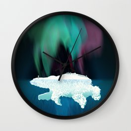 Polar Ice Wall Clock