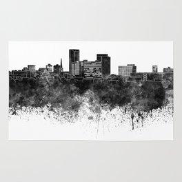 Lexington skyline in black watercolor Rug