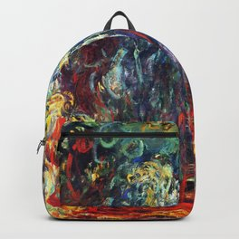 """Claude Monet """"Weeping Willow, Giverny"""", 1922 Backpack"""