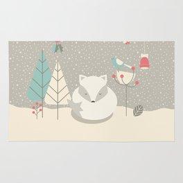 Christmas baby fox 05 Rug