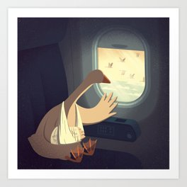 Hello, Goodbye Art Print