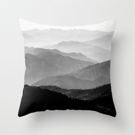 Mountain Mist - Black and White Collection Throw Pillow