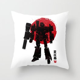 Gun robot Throw Pillow