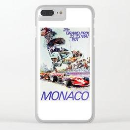 Gran Prix de Monaco, 1971, original vintage poster Clear iPhone Case