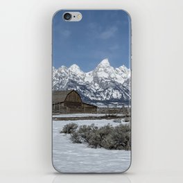 John Moulton Barn and the Grand Tetons iPhone Skin